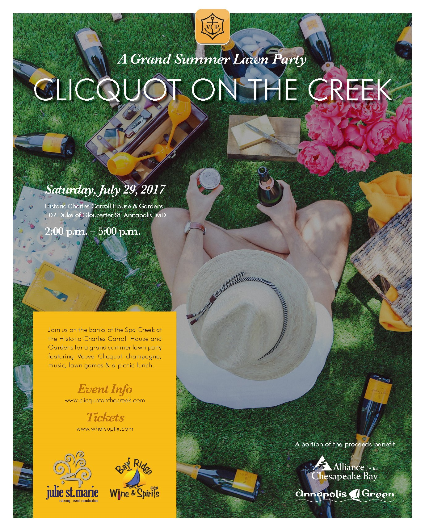 Get Your Tickets At Https://whatsuptix.com/events/clicquot On The Creek